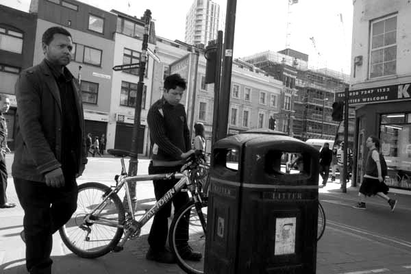 Bicycle. Osborn Street, East London 2016.