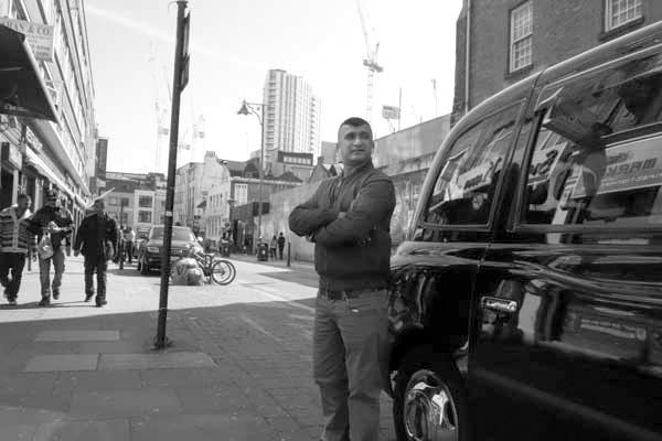 Taxi. Osborn Street, East London 2016.