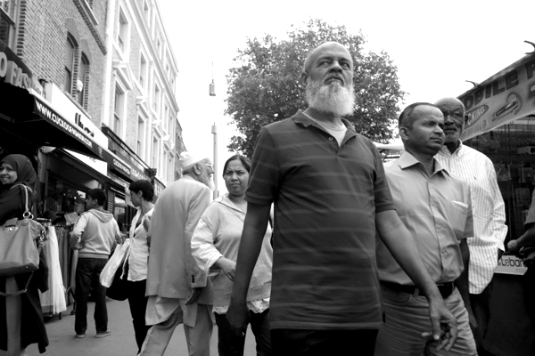 Man with beard. Whitechapel, London 2013.