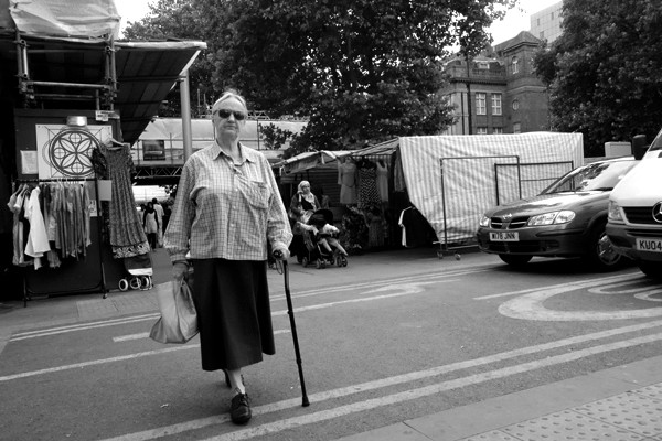Woman with glasses. Whitechapel, London 2013.
