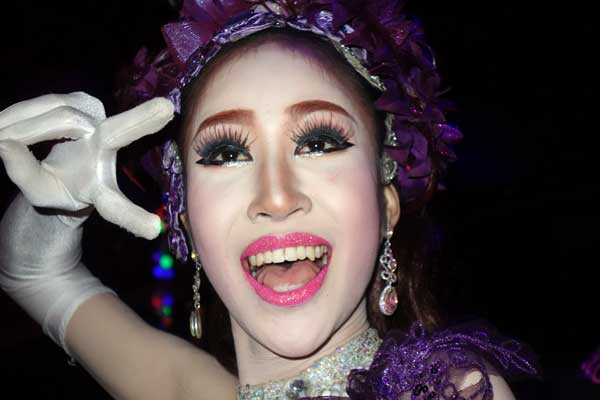 Performer after the show.The Ram Cabaret bar, Chaing Mai Thailand 2017.