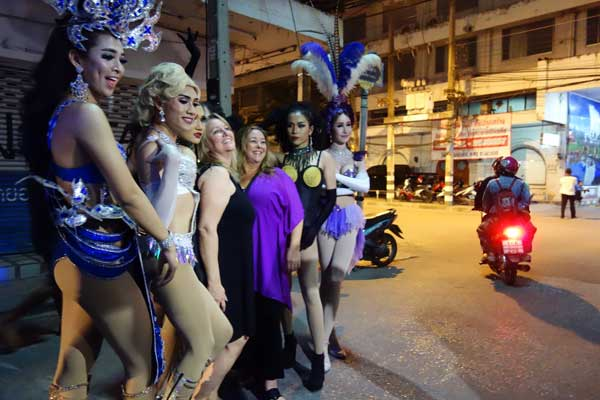 Outside the Ram Cabaret bar, Chaing Mai Thailand 2017.