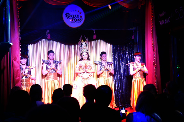 The show. The Ram Cabaret bar, Chaing Mai Thailand 2017.