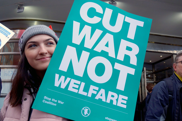 'Cut War'. NHS demonstration. London 2017.