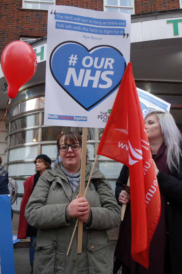 NHS demonstration. London 2017.