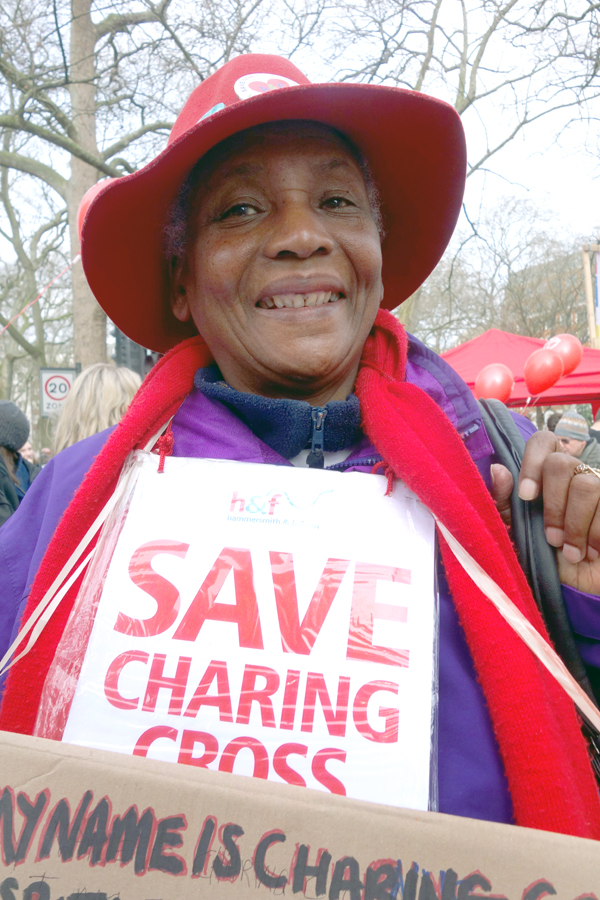 Save Charing Cross. NHS demonstration. March 2017.