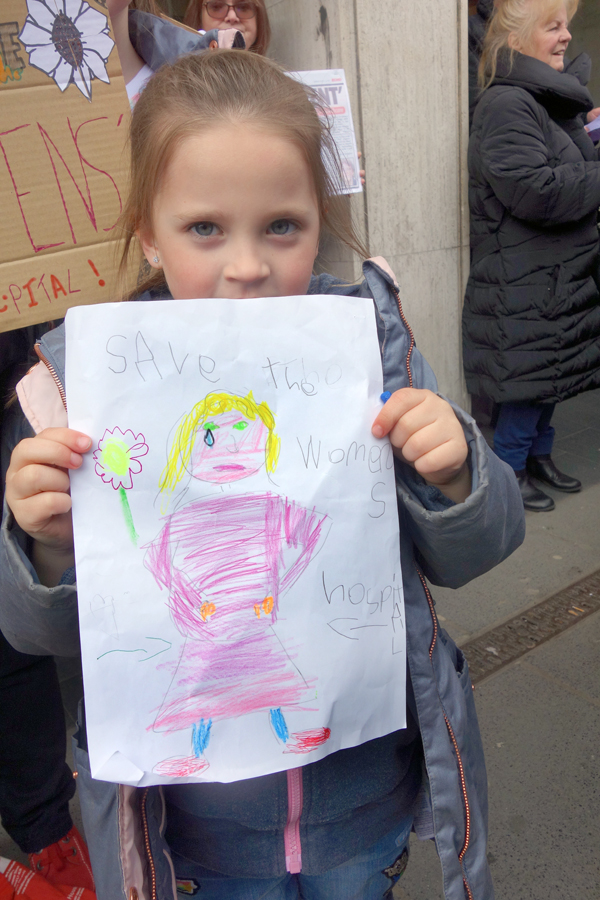 Born in the Women's hospital & protesting to save the NHS,