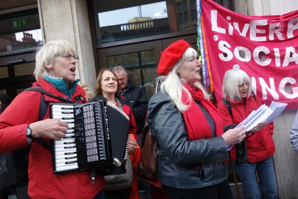 Liverpool Socialist Singers, 2017.
