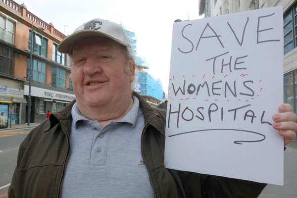 Protesting to save the NHS, Liverpool 2017.