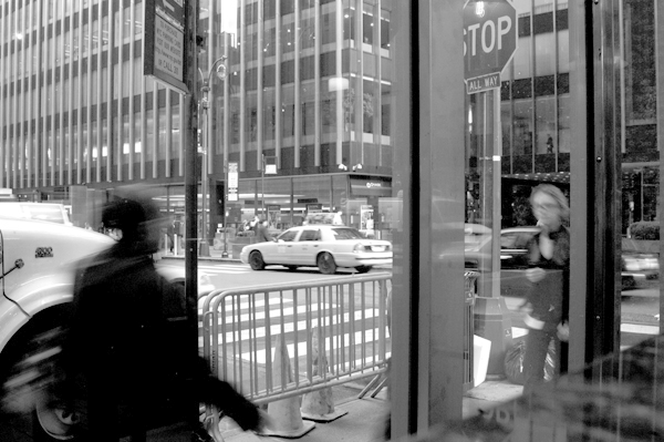 Through the window. New York 2005.