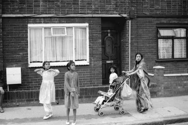 Family on Vallance Road, London 1983.