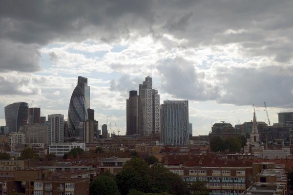 Looking west from Whitechapel, London 2015.