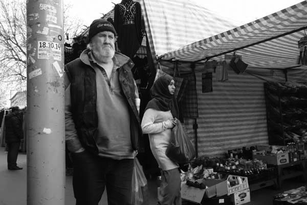 Man with beard. Whitechapel, London 2015.
