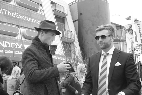 About to place a bet. Aintree 2017.