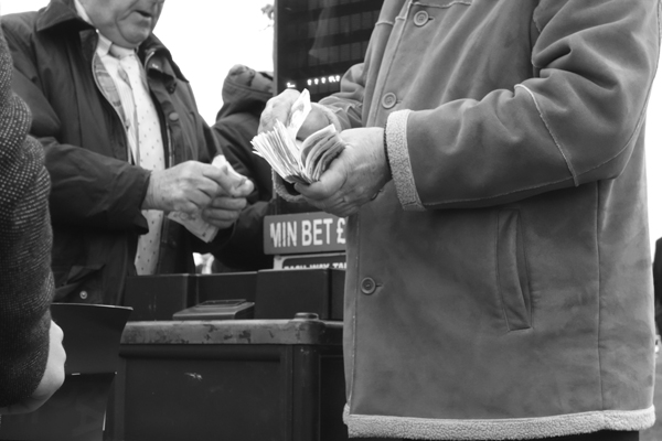 Counting the money. Aintree 2017.