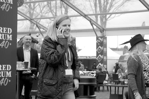 On the phone. Aintree 2017.