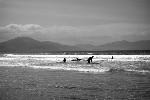 Surfing. Banna beach, Kerry 2017.