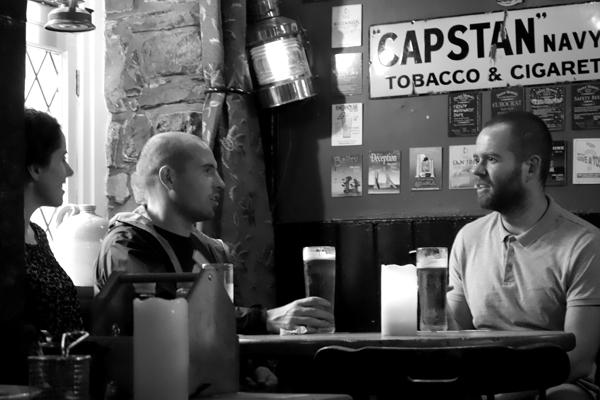 Conversatio inside the Inn. Caernarfon 2016.