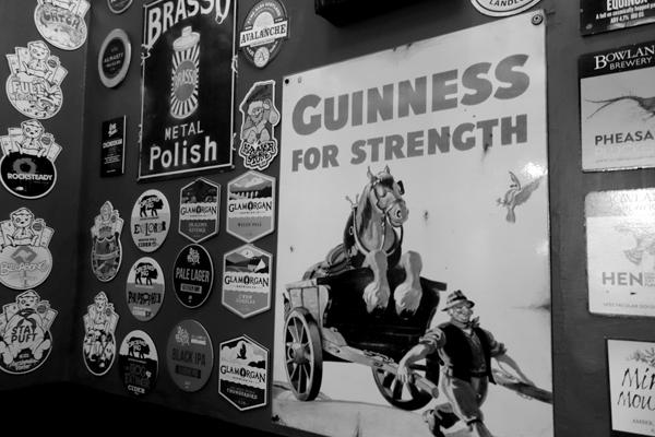 Retro advertisement. Caernarfon 2016.