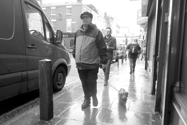Man with a dog. Bold Street, Liverpool 2017.