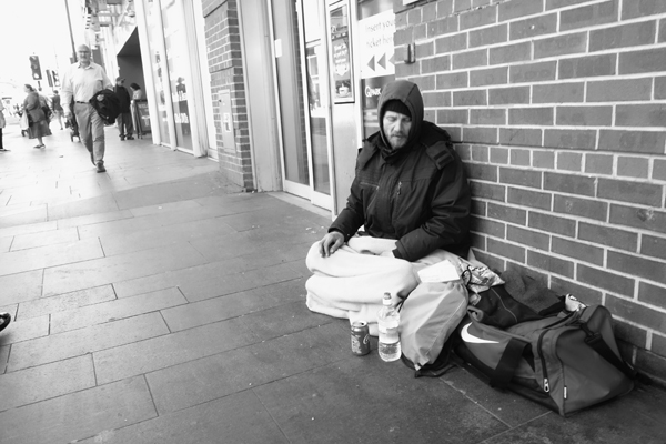 Homeless. Liverpool May 2017.