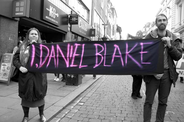 "'I, Daniel Blake"". Liverpool May 2017."