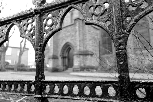 Railings. St Mary's Church Wavertree, Liverpool 2017.