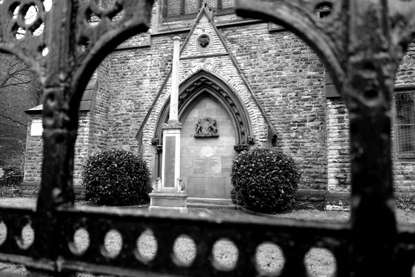 War memorial. St Mary's Church Wavertree, Liverpool 2017.