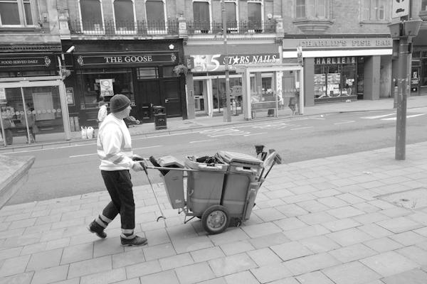 Street cleaner. Wolverhampton 2017.