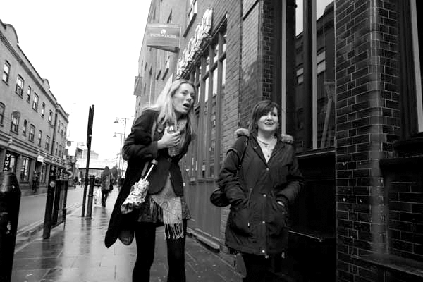 Conversation. Brick Lane, London 2012.