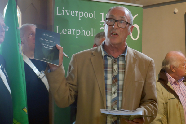 Greg Quiery thanks everyone on behalf of the Liverpool Easter 1916 Commemoration Committee.