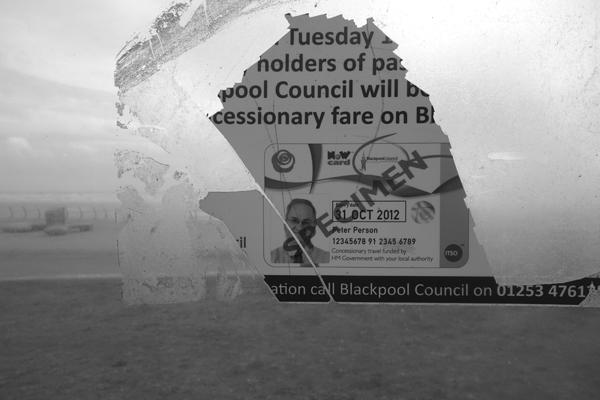 Bus shelter. Blackpool 2017.