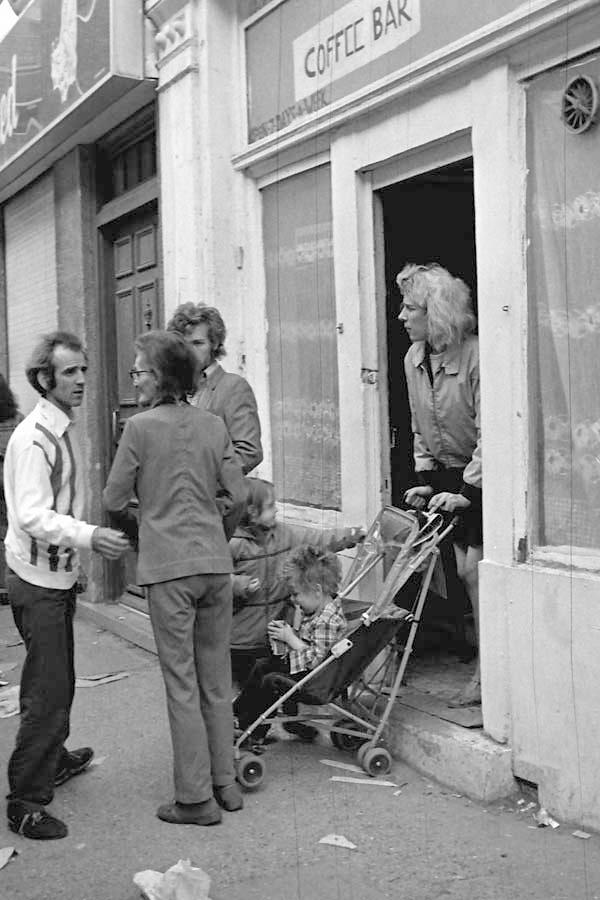 Coffee bar. Cheshire Street. East London 1984.