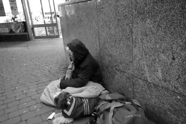 Homeless. Liverpool 2017.