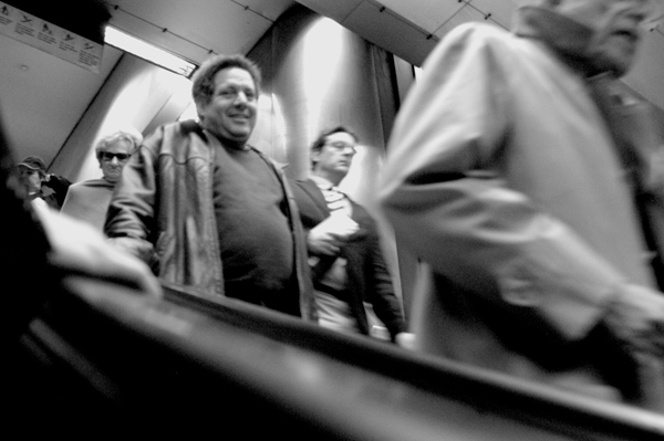 Escalator in subway. New York 2005.