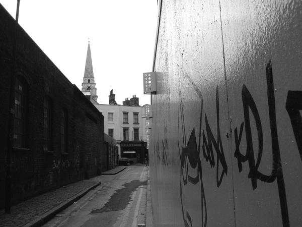 Off Hanbury Street. Spitalfields 2004.