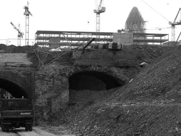 Building work. Shoreditch 2004.