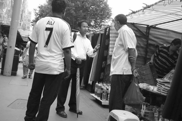 Ali 7. Whitechapel market 2013.