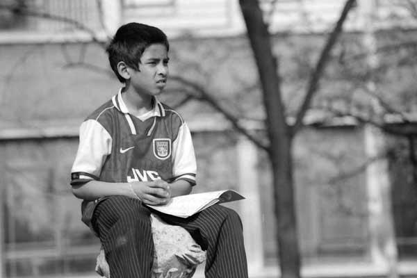 Boy in Altab Ali Park. East London 1998.
