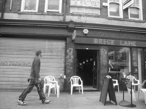 Coffee shop. Brick Lane 2010.