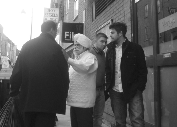 Conversation. Brick Lane 2010.