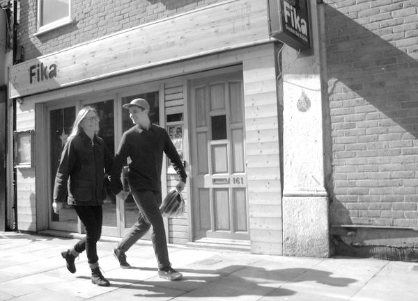 Holding hands. Brick Lane 2010.
