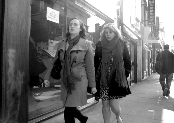 Two women. Brick Lane 2010.