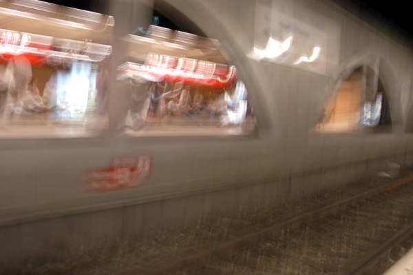 Underground station. Barcelona 2005.