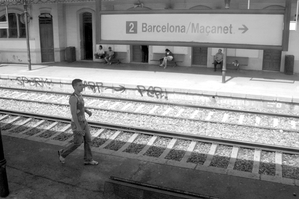 Train station on the way to Barcelona 2015.