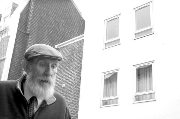 Man with a beard. Hastings 2006.