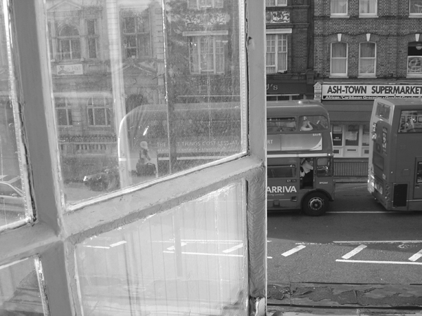 View from a window in Hackney. East London 2004.