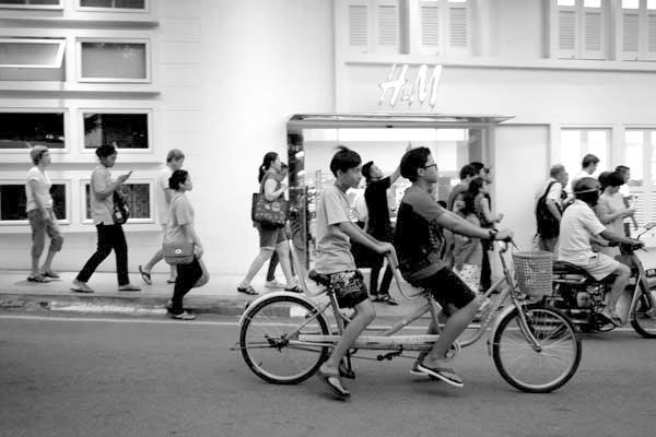 Two on a bike. Melaka, Malaysia 2017.