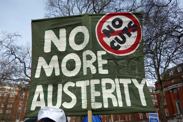 'No more Austerity'. NHS London demonstration 2017.