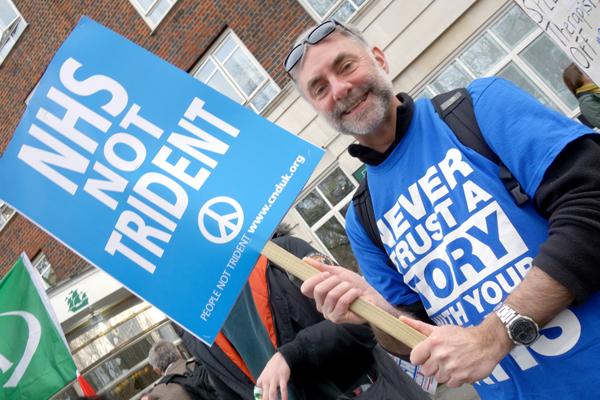Jobs not Trident. NHS London demonstration 2017.